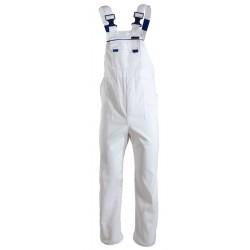 Białe spodnie ogrodniczki